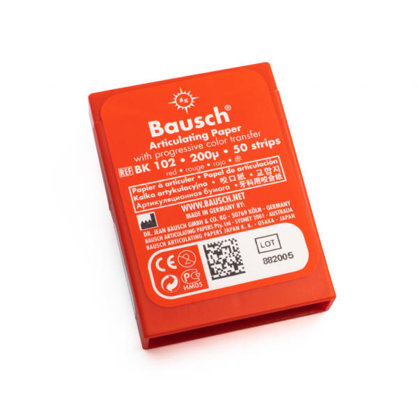 Papel Articular BK102 Rojo -Marca: BAUSCH Desechables | Odontology BG