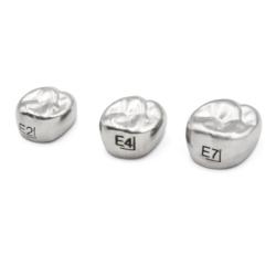 Coronas De Acero Posteriores -Marca: DenTeam Coronas Prefabricadas   Odontology BG