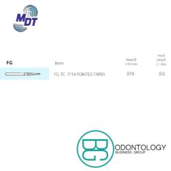 Fresa Dorada #7714 -Marca: MDT Abrasivos | Odontology BG