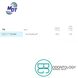 Fresa Dorada Corte De Metal KC2 -Marca: MDT Abrasivos   Odontology BG