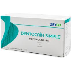 Dentocaína Simple Mepivacaína -Marca: Zeyco Anestesia | Odontology BG