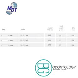Fresa de Carburo FG Amalgama -Marca: MDT Abrasivos   Odontology BG