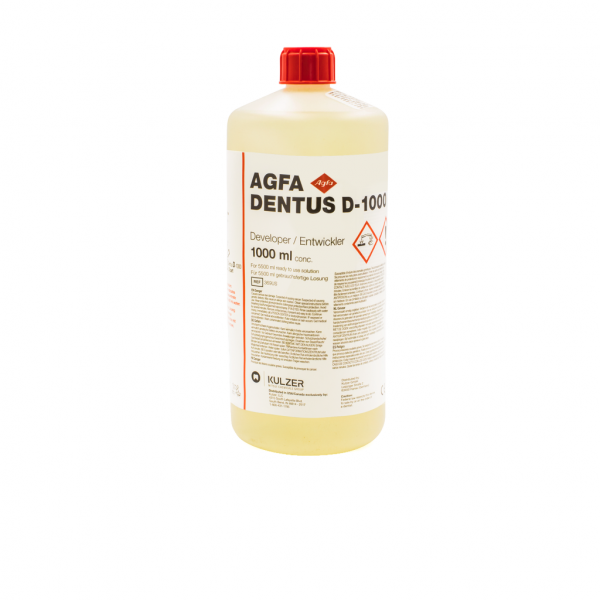 Revelador Dentus 1L -Marca: AGFA Rayos X   Odontology BG