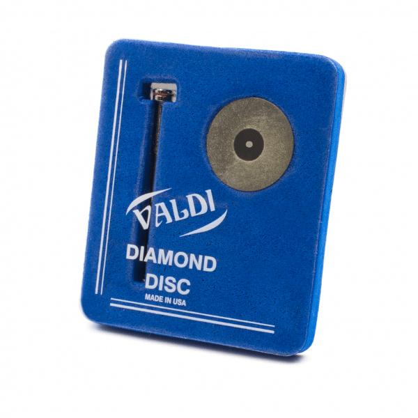 Disco Diamante con Mandril -Marca: VALDI Abrasivos   Odontology BG
